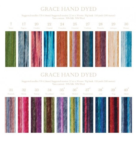 DISCONTINUED Louisa Harding Grace Hand-Dyed | Little Houndales Knits