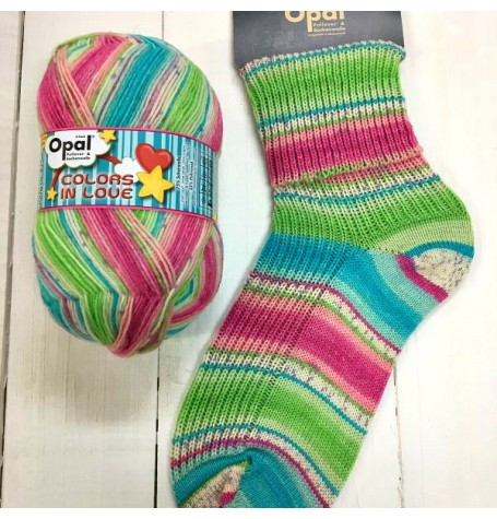 Opal Colours in Love Sock Yarn