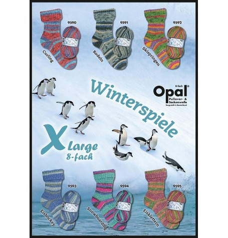 Opal X-Large Winterspiele 8 ply Sock Yarn