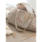 Hearts Knitting Bag