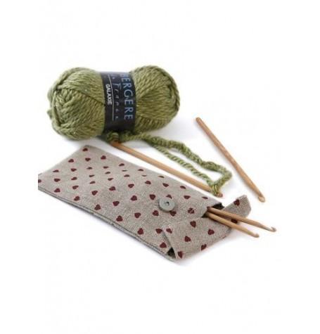 Hearts Crochet Hook and DPN Case